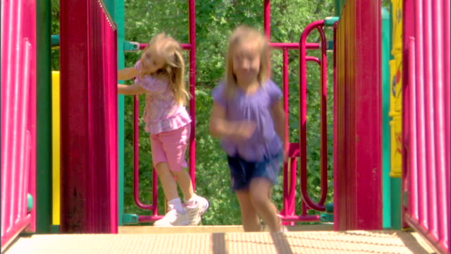 children at a playground - see other clips from this shoot 1428 stock videos & royalty-free footage