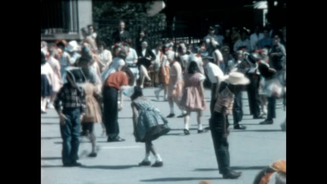 children at a public school celebrate may day in the early 1960's - traditional ceremony stock videos & royalty-free footage