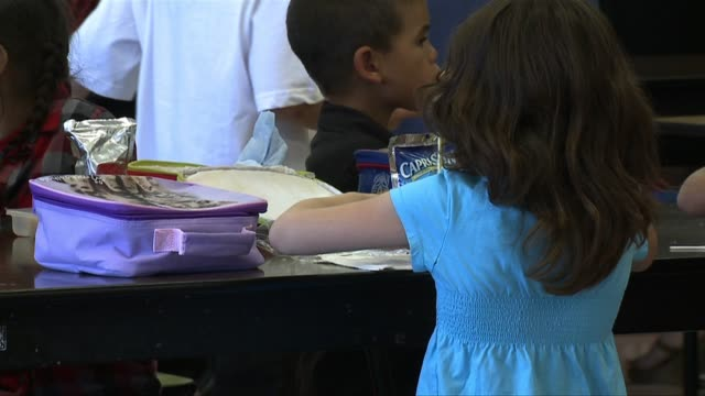 kswb children at an elementary school on september 07 2010 in san diego california - cafeteria stock videos & royalty-free footage