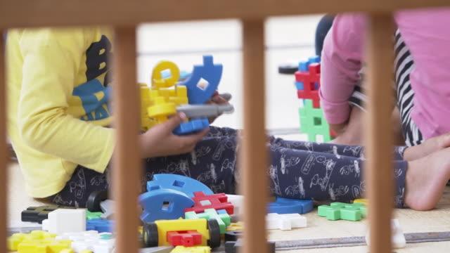 children at nursery school, japan - preschool stock videos & royalty-free footage
