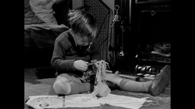 1946 - children at play - cutting stock videos & royalty-free footage