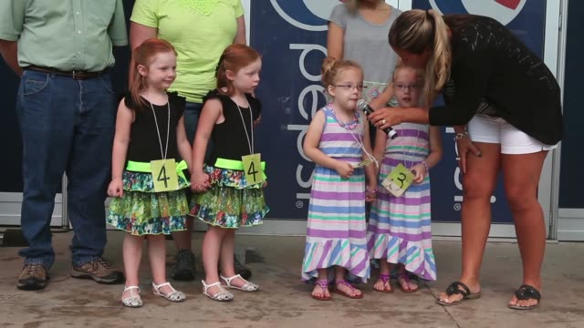 ls children compete in the twins lookalike competition at the iowa state fair on august 7 2014 in des moines iowa the competition has a category for... - look alike stock videos and b-roll footage