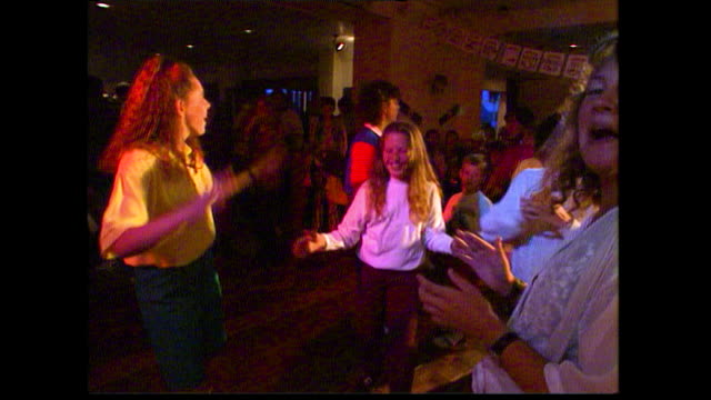 children dance at an indoor disco party; 1993 - nightclub stock videos & royalty-free footage