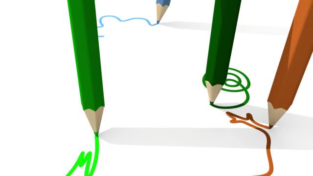 kinder zeichnen in der schule - stift stock-videos und b-roll-filmmaterial
