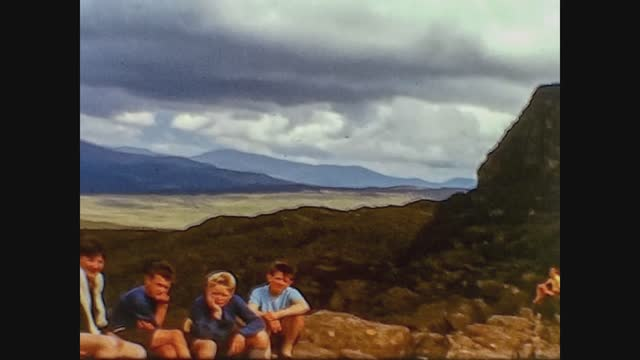 children during outing in mountain - hiking stock videos & royalty-free footage