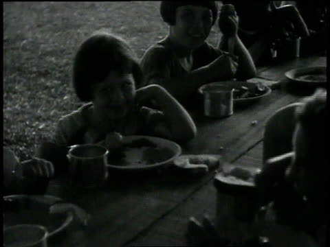 children eating in emergency shelter / baton rouge, louisiana, united states - 1927 stock videos & royalty-free footage