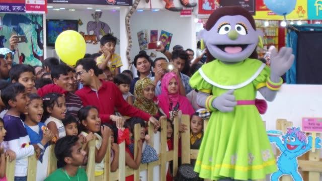 children enjoying puppet show during children's hours in book fair in dhaka, bangladesh, on february 10, 2018. according to the academy authority... - puppet stock videos & royalty-free footage
