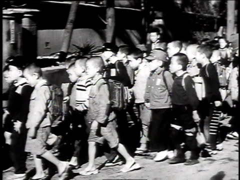 children going to school / japan - 1947 stock videos & royalty-free footage