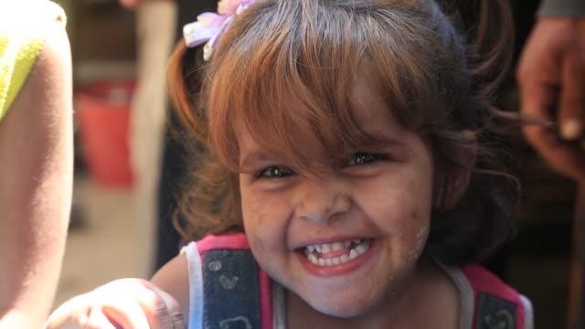 Children in a poor area of Gaza on October 23 2016