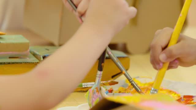 children in art class,4k - craft stock videos & royalty-free footage