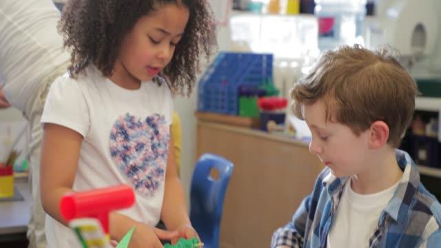 children in class - preschool stock videos & royalty-free footage