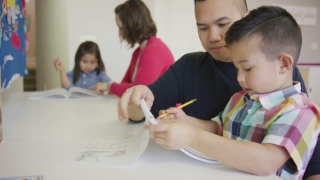 children in homeschool - preschool child stock videos & royalty-free footage