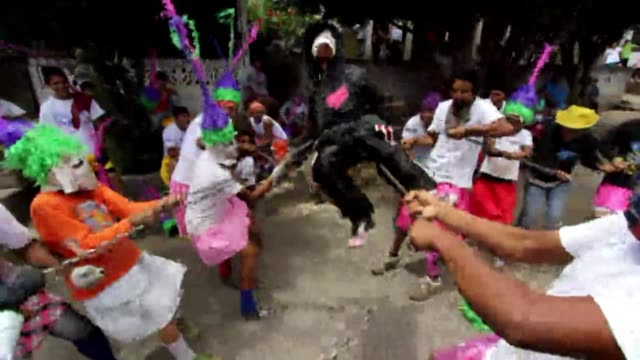 children in nicaragua capture and drag people dressed as judas iscariot through the streets as punishment for betraying jesus a tradition known as... - holy week stock videos & royalty-free footage