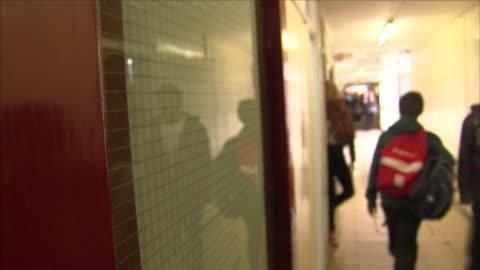 children in school corridor - corridor stock videos & royalty-free footage