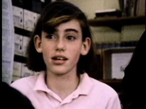 1986 montage children in school talking about alcohol and cigarettes, usa, audio - 1986 stock videos & royalty-free footage