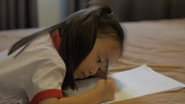 children learn to write. - part of stock videos & royalty-free footage