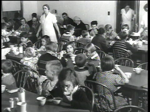 children made homeless by hurricane eat in relief center dining room / chicopee, massachusetts, united states - dining room stock videos & royalty-free footage