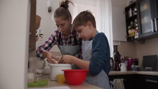 children making yeast cake - yeast stock videos & royalty-free footage