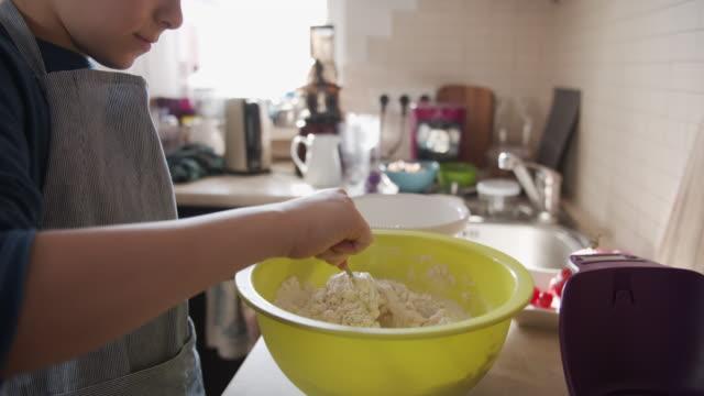 children making yeast cake - dough stock videos & royalty-free footage