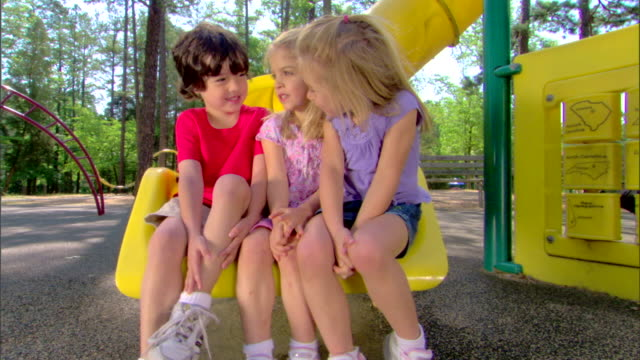 children on a slide - children only stock videos & royalty-free footage