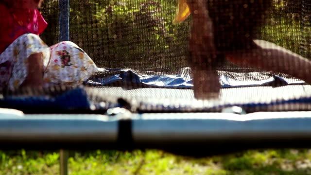 HD: Children on A Trampoline