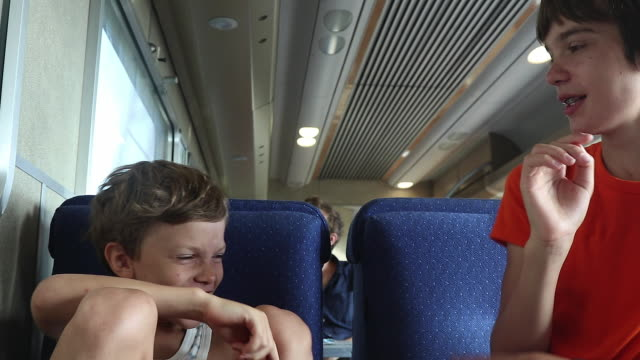 children play on a train - teasing stock videos & royalty-free footage
