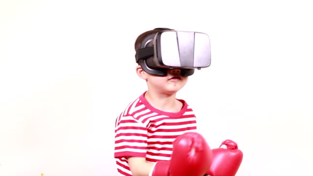 children play virtual reality simulator - combat sport stock videos & royalty-free footage