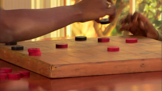 children playing checkers - draughts stock videos & royalty-free footage