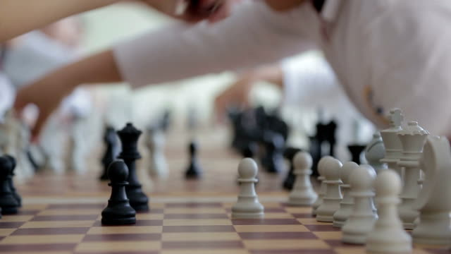 children playing chess - chess stock videos & royalty-free footage