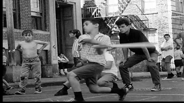 1968 children playing in the streets of new york city - city life stock videos & royalty-free footage