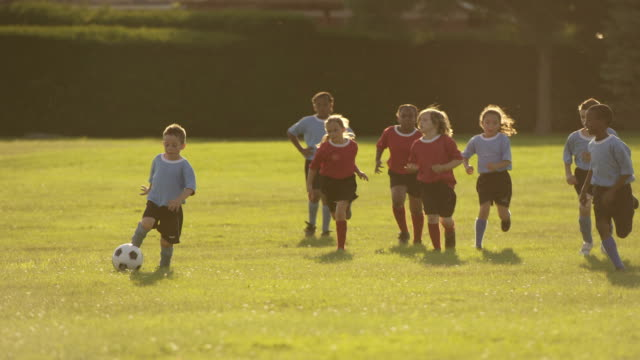 children playing soccer - boys stock videos & royalty-free footage