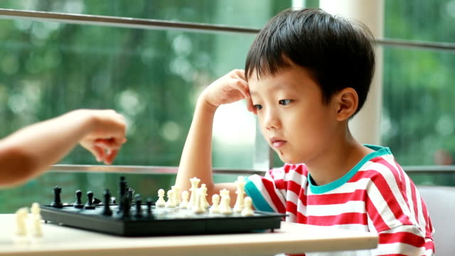 children playing with chess - reflection stock videos & royalty-free footage