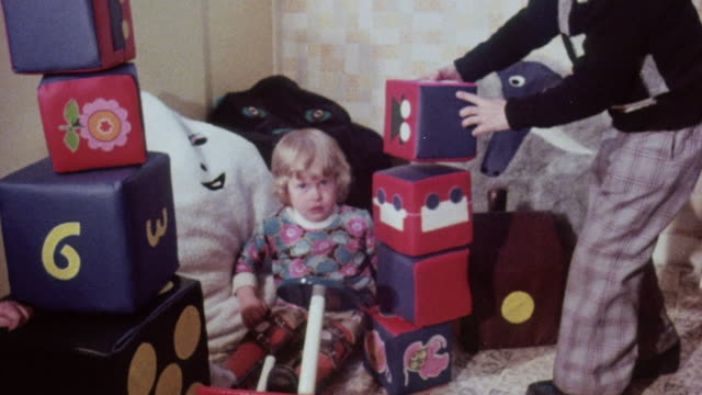 montage children playing with toys at a workshop / united kingdom - 1976 stock videos and b-roll footage