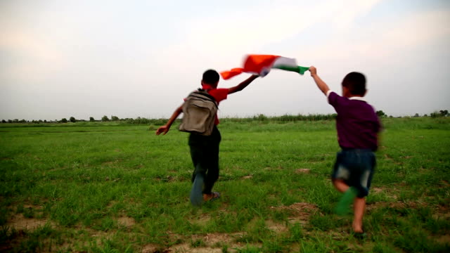 children running holding national flag - democracy stock videos & royalty-free footage
