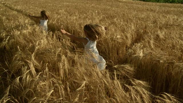 HD CÂMARA LENTA: Crianças A correr no trigo