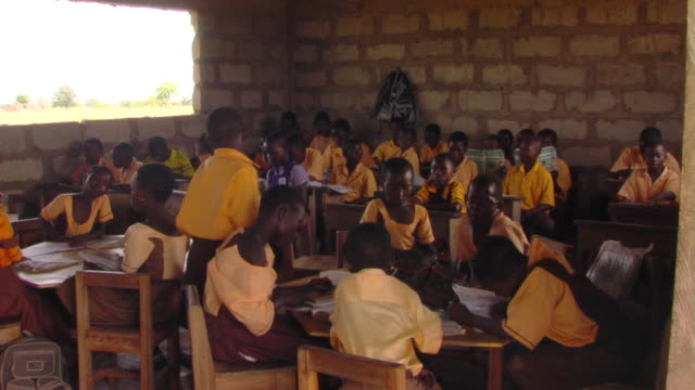 ms ha children sitting in classroom, tamale, ghana - elementary school stock videos and b-roll footage