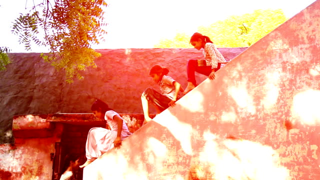 children sliding on wall - hamlet play stock videos and b-roll footage