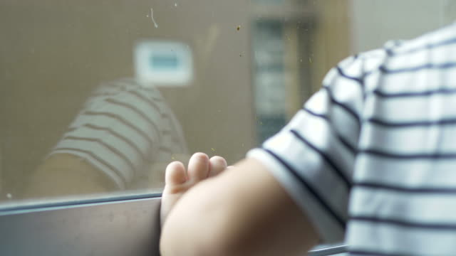 children stood and stared at the window. - homelessness stock videos & royalty-free footage