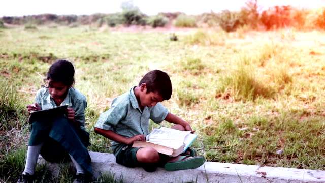 children studying in the nature - poverty stock videos & royalty-free footage