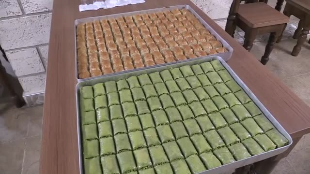 children suffering from a genetic disorder have tasted the turkish dessert baklava for the first time in their lives. phenylketonuria is a disease... - gluten free stock videos & royalty-free footage