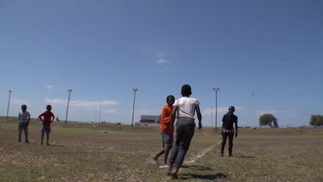 children taking part in rugby training at world cupwinning south africa captain siya kolisi's former club - team captain stock videos & royalty-free footage
