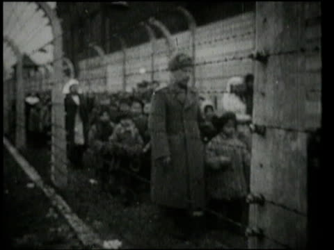 children walking and being carried out of auschwitz / oswiecim germany - 1945 stock videos & royalty-free footage