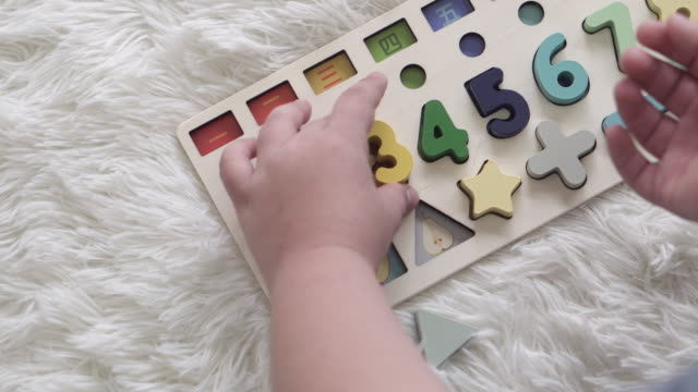 children with autism playing toys to increase brain skills - mental health stock videos & royalty-free footage