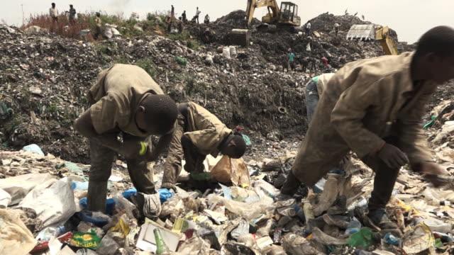 Children working as garbage pickers in the Dandora Dumpsite in Nairobi