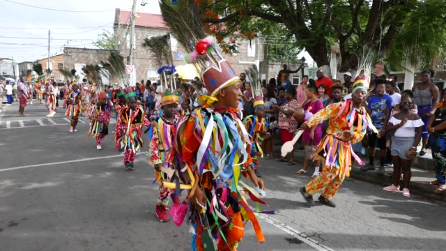 childrens carnival in nevis caribbean - tradition stock videos & royalty-free footage