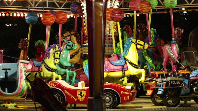 children's carousel - entertainment event stock videos & royalty-free footage