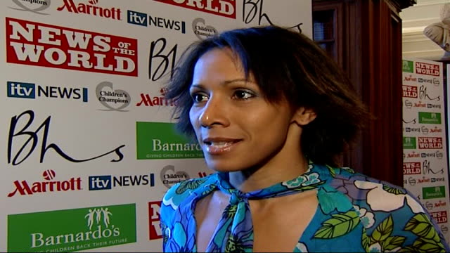 Children's Champion Awards arrivals and interviews Kelly Holmes interview SOT difficult trying to pick winners from the nominees/ judges sometimes...