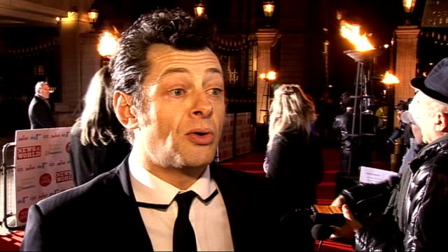 children's champions awards 2010 celebrity arrivals andy serkis speaking to press on red carpet / andy serkis interview sot on filming 'burke and... - jedward stock videos and b-roll footage