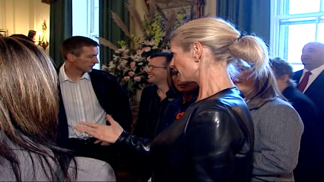 stockvideo's en b-roll-footage met children's champions awards ceremony takes place winners presented with awards at ten downing street * * beware ulrika jonsson chatting with group of... - ulrika jonsson