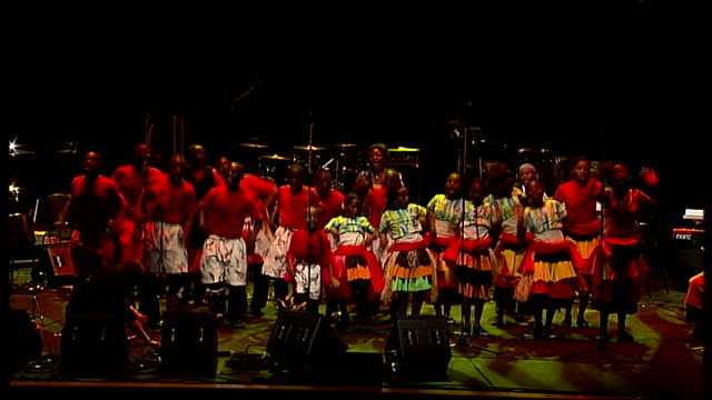children's choir from uganda brings message of peace to london choir performing choir performing - choir stock videos & royalty-free footage